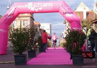 arche course a pied corrida rose