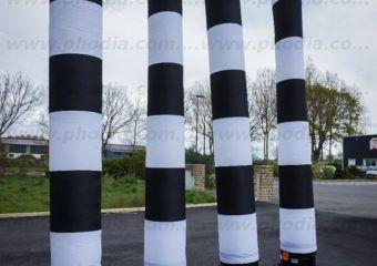 tube ventilé bicolore noir et blanc