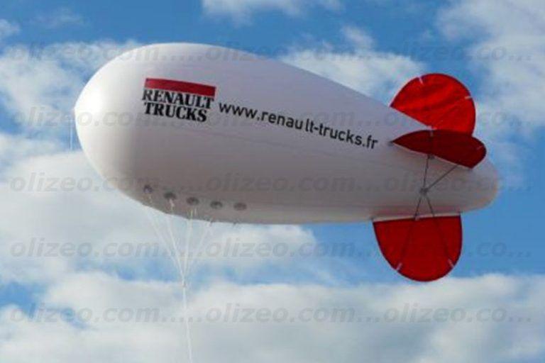 dirigeable renault truck hélium pour le mans