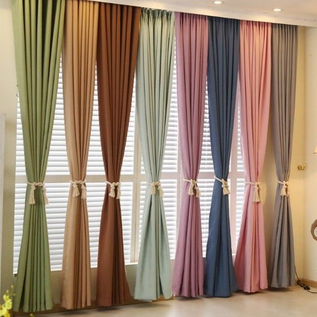 Different color selections for curtains