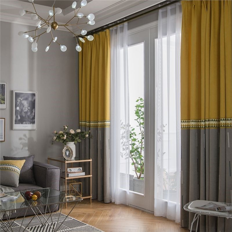 Curtain types in Sri Lanka - Solid fabric for curtains