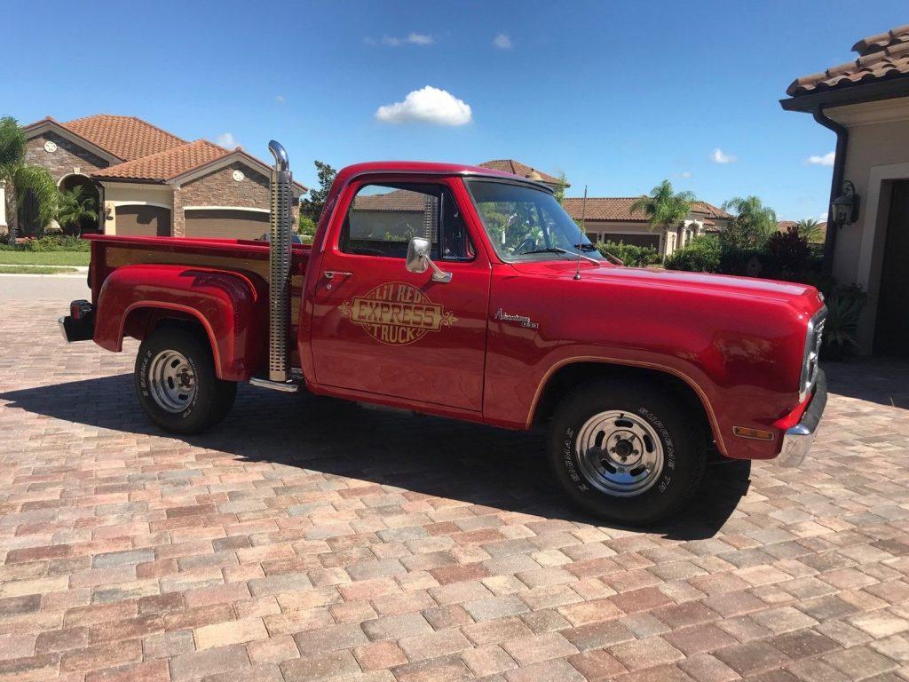 1979 Dodge D150 Little Red Express, A/C, Survivor Truck, One Repaint 360ci V8