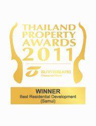 Thailand Property Awards 2011 Best Residential Development Koh Samui CODE – Winner