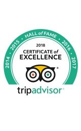 TripAdvisor Hall of Fame award 2018