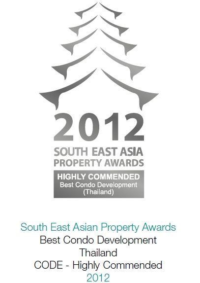 2012 South East Asian Property Awards: Best Condominium Development Thailand CODE