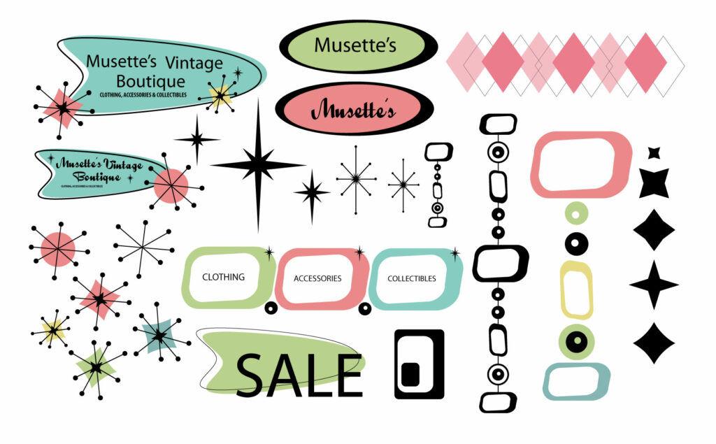 Musette's Vintage Boutique Branding Ideas