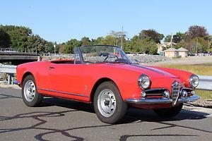 1960 Alfa Romeo Spider Giulietta Spider 1300