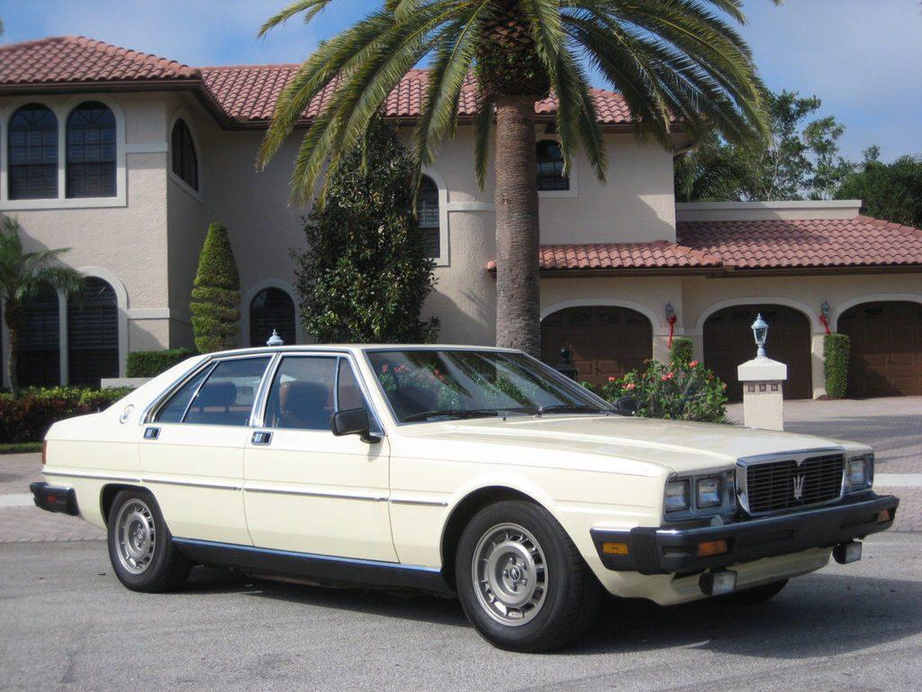 VERY RARE Classic Vehicle – 1982 Maserati Quattroporte