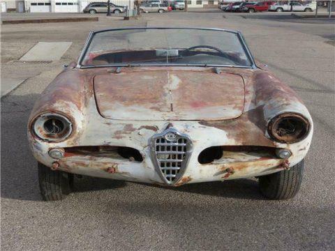 1960 Alfa Romeo Giulietta Spider, Rare project for sale
