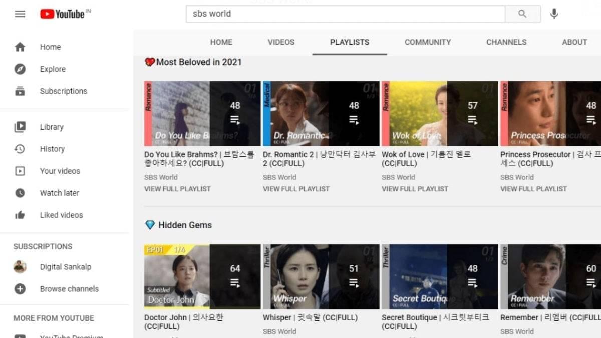 YouTube - watch korean dramas online for free