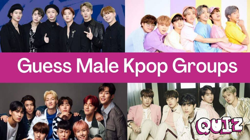 Guess male kpop groups quiz