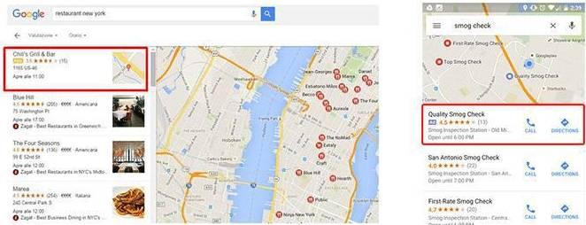 AdWords sur la Map