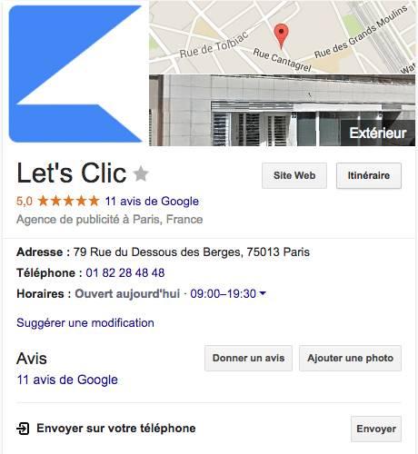 apparaitre sur Google My Business