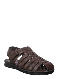 Khadim's Brown Lifestyle Fisherman Sandal