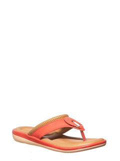 Khadim's Peach Casual Slip-On Sandal