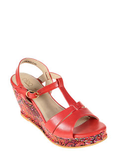 Cleo Red Lifestyle Heel Sandal