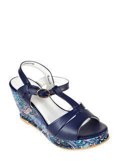 Cleo Navy Lifestyle Heel Sandal