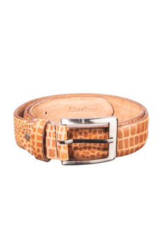 Khadim's Tan Casual Leather Belt
