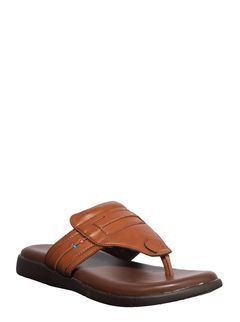 Softouch Men Tan Casual Dress Slipper