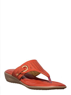 Softouch Red Casual Slip-On Sandal
