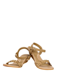 Khadim's Beige Casual Strap-On Sandal