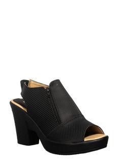 Khadim's Black Lifestyle Mule Sandal