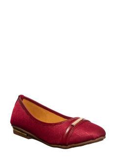 Khadim's Maroon Casual Ballerina Shoe