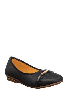 Khadim's Black Casual Ballerina Shoe