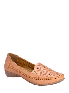 Sharon Peach Casual Loafer Shoe