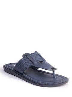 Khadim's Men Blue Casual Slip-On Sandal