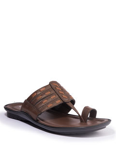 Khadim's Lazard Men Brown Ethnic Dress Sandal