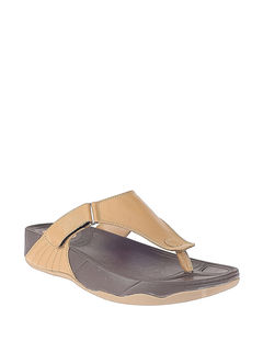 Khadim's Tan Casual Strap-On Sandal