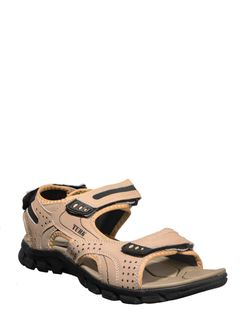 Turk Men Beige Casual Floater Sandal
