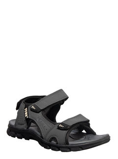 Turk Men Grey Casual Floater Sandal