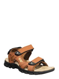 Turk Men Brown Casual Floater Sandal