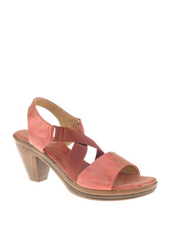 Sharon Red Casual Heel Sandal