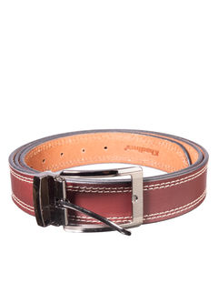 Khadim's Maroon Casual Leather Belt