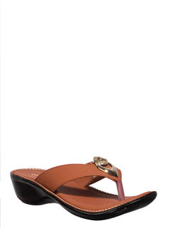 Khadim's Brown Casual Slip-On Sandal