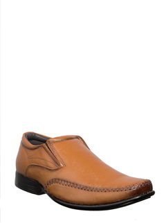 British Walkers Men Brown Formal Slip-On Shoe