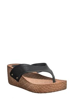 Waves Black Casual Heel Sandal