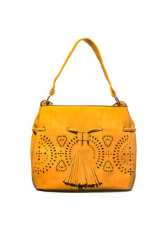 Khadim's Yellow Tote Handbag