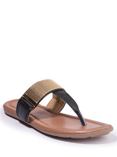 Khadim's Cleo Women Black Lifestyle Flat Sandal