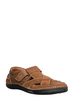 British Walkers Men Brown Lifestyle Dress Sandal