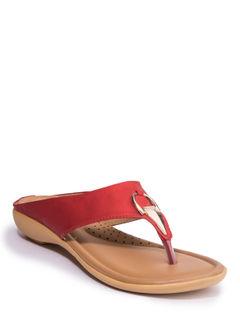 Khadim's Women Red Casual Flat Sandal