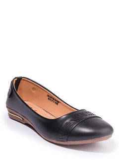 Khadim's Women Black Casual Ballerina Shoe