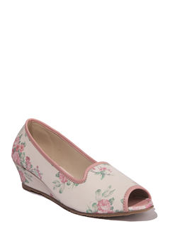 Cleo White Casual Ballerina Shoe