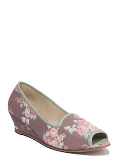 Cleo Grey Casual Ballerina Shoe
