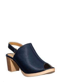 Cleo Navy Casual Mule Sandal
