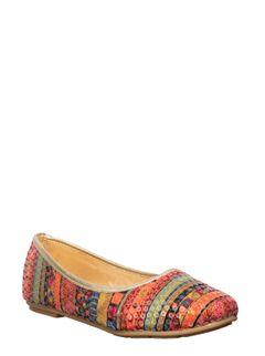 Khadim's Multicolour Ethnic Ballerina Sandal