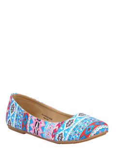 Cleo Blue Casual Ballerina Shoe
